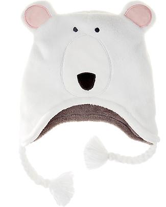 FlapJackKids Cappello Reversibile in Pile - Orso Polare+Volpe - Anti-UV SPF 50+ Cappelli Invernali