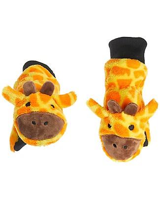 FlapJackKids Guanti-Pupazzo Giraffa in Caldissimo Pile, 2-6 anni Guanti e Muffole