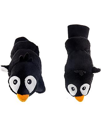 FlapJackKids Guanti-Pupazzo Pinguino In Caldissimo Pile, 2-6 anni Guanti e Muffole