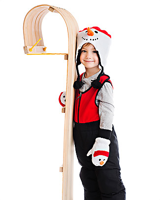 FlapJackKids Guanti-Pupazzo Pupazzo di Neve in Caldissimo Pile , 2-6 anni Cappelli Invernali