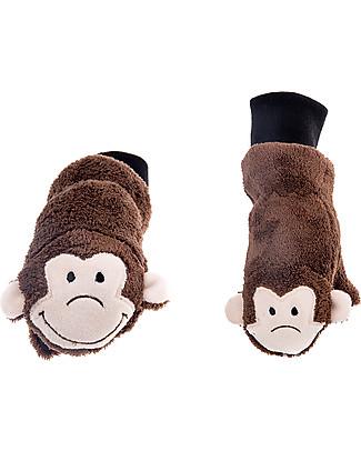 FlapJackKids Guanti-Pupazzo Scimmietta in Caldissimo Pile, 2-6 anni Guanti e Muffole
