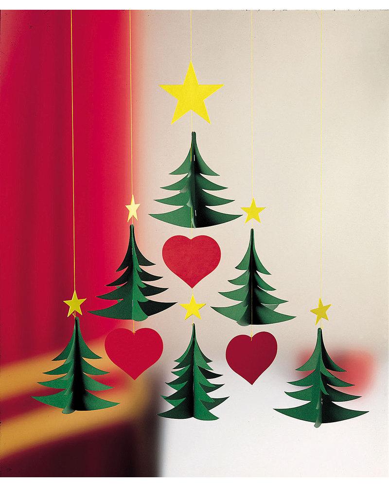 Immagini Di Bambini Natalizie.Flensted Giostrina 6 Alberi Di Natale Si Muove Da Sola