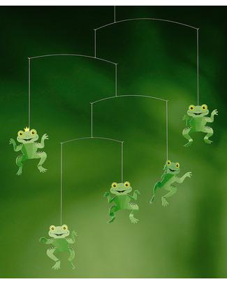 Flensted Giostrina Rane Felici - Happy Frogs (si muove da sola!) Giostrine