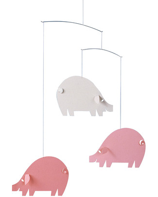 Flensted Pink Piggies Mobile (moves on its own!) Mobiles