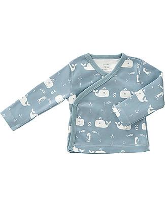 Fresk Cardigan Bebè, Balena Blu - Cotone Bio Cardigan