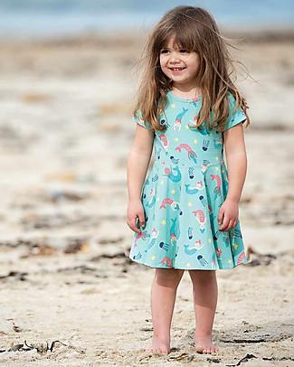 Frugi Abito Little Spring Skater, St Agnes Mermaid Magic - Cotone bio elasticizzato Vestiti