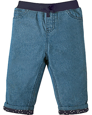 Frugi Baby Chambray Jeans con Banda Elastica e Coulisse - 100% cotone organico Jeans Lunghi