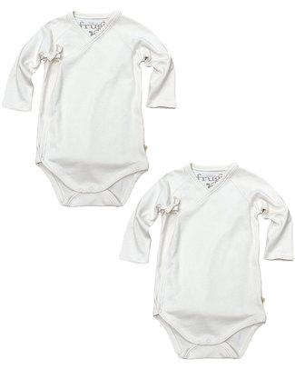 Frugi Body Kimono a Manica Lunga - Confezione da 2 pezzi - 100% Cotone Bio Body Manica Lunga