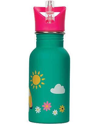 Frugi Borraccia Splish Splash, Aqua Rainbow Roads - 400ml Borracce senza BPA