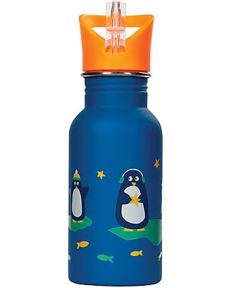 Frugi Borraccia Splish Splash, Polar Play - 400ml Borracce senza BPA