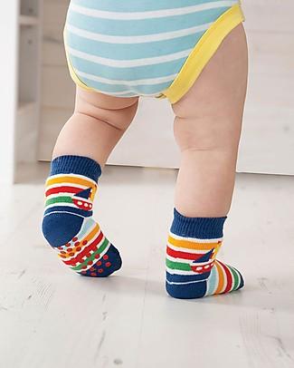 Frugi Calzini Antiscivolo Baby (0-4 anni), Boat Multipack - Pacco da 2 - Perfetti per i primi passi! Calzini