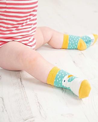 Frugi Calzini Perfect Little Socks (0-4 anni) - St Agnes Spot/Duck - Cotone Bio Elasticizzato Calzini