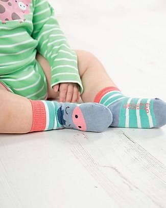 Frugi Calzini Perfect Little Socks (0-4 anni)- St Agnes Stripe/Pony - Cotone Bio Elasticizzato Calzini