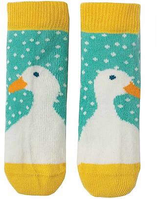Frugi Calzini Perfect Little Socks - St Agnes Spot/Duck - Cotone Elasticizzato null