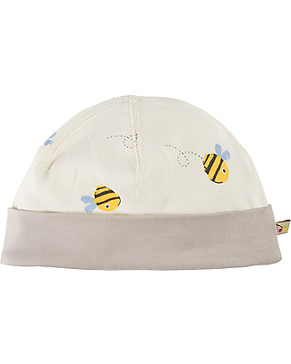 Frugi Cappellino Buzzy Bee, Bianco - 100% cotone bio Cappelli
