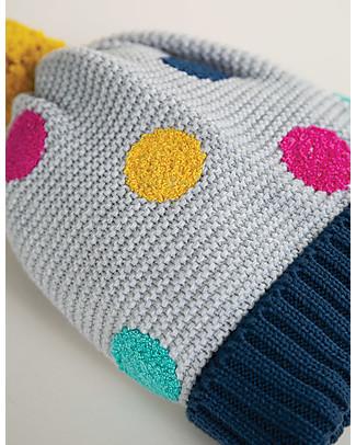 Frugi Cappellino con Ponpon Evie Bobble, Pois Colorati - Cotone Bio Cappelli