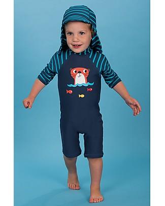 """Frugi Cappellino """"Legionario"""" Little Swim, Righe - UV 50+ Cappelli Estivi"""