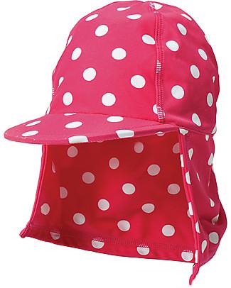 Frugi Cappellino Legionario, Pois Lampone/Bianco - Protezione UV 50+ Cappelli