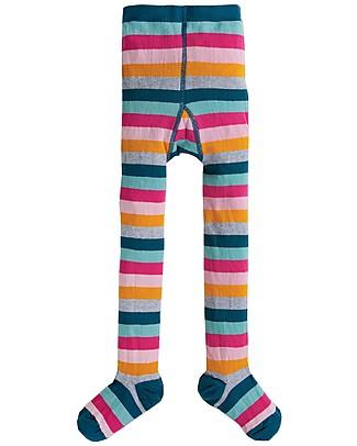 Frugi Collant Little Norah, Cosmic Stripe - Cotone Bio (morbidi, caldi e non pizzicano!) Calze