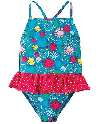Frugi Costume da Bagno Intero Bimba Little Coral, Giungla - UV 50+ Costumi Interi