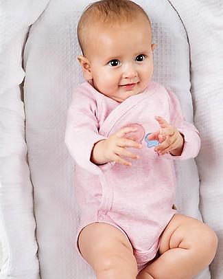 Frugi Cuddly Body Kimono, Pacco da 2 - Balenottera & Conchiglie - 100% Cotone bio Body Manica Lunga