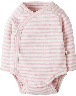 Frugi Cuddly Body Kimono, Pacco da 2 - Cinciallegre & Righe - 100% Cotone bio Body Manica Corta