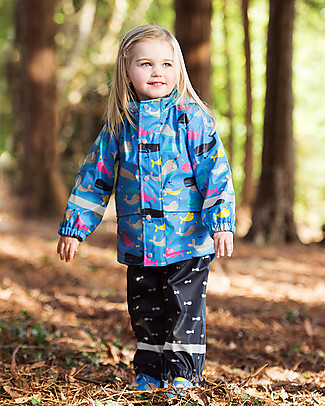 Frugi Giacca Impermeabile Puddle Buster, Balene - Cuciture Saldate, 100% Waterproof! null