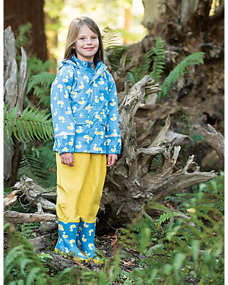 Frugi Giacca Impermeabile Puddle Buster, Papere - 100% materiale riciclato! Giacche
