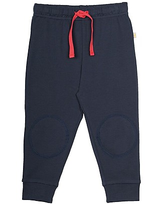 Frugi Kneepatch Crawlers, Navy - 100% Organic Cotton Trousers
