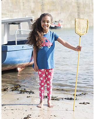 Frugi Leggings Libby, Lampone/Stella Marina - Cotone bio elasticizzato Leggings