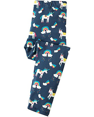 Frugi Leggings Libby, Magic Rainbow - Cotone bio elasticizzato Leggings