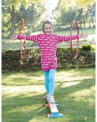 Frugi Libby Leggings, Acqua - Cotone bio elasticizzato Leggings