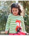 Frugi Maglia Volpe del Bosco - 100% Cotone Bio (con sorpres sul retro!) T-Shirt e Canotte