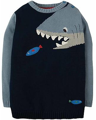 Frugi Maglione Jasper, Navy/Shark - 100% cotone bio Maglioni