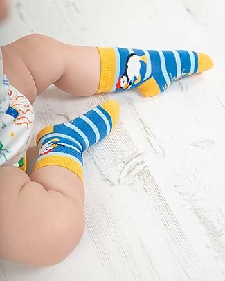 Frugi Pacco da 3 Calzini Little Socks, Puffino - Cotone bio elasticizzato Calzini