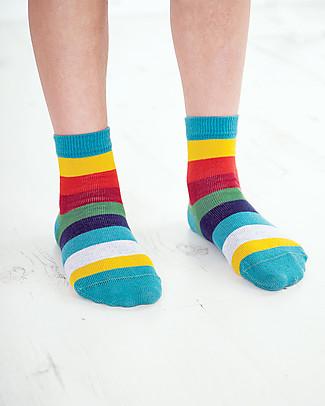 Frugi Pacco da 3 Calzini Rock My Socks, Dinosauri (Nuovo Design!) - Cotone bio elasticizzato Calzini