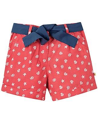 Frugi Pantaloncini Corti Seren, Coral Shell Polka - 100% Cotone Bio Pantaloni Corti