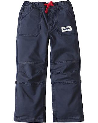 Frugi Pantaloni Bimbo Roll Up, Blu - Cotone bio Pantaloni Lunghi