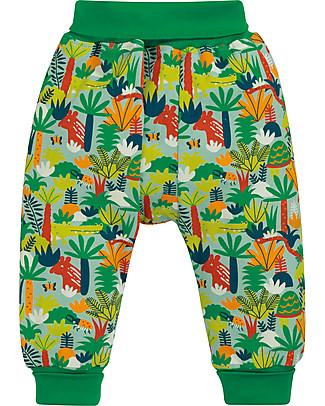 Frugi Pantaloni con Cavallo Basso, Jungle Rumble - 100% cotone bio Pantaloni Lunghi