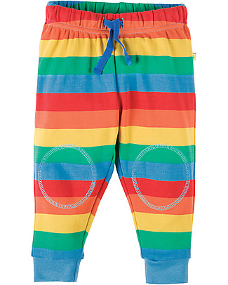 Frugi Pantaloni con Toppe Imbottite, Arcobaleno - 100% cotone bio Pantaloni Lunghi