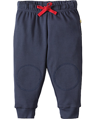 Frugi Pantaloni con Toppe Imbottite, Blu - 100% cotone bio Pantaloni Lunghi