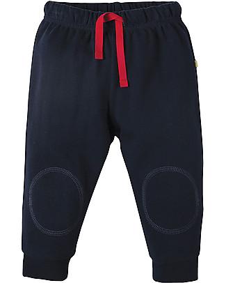 Frugi Pantaloni con Toppe Imbottite, Blu Scuro - 100% cotone bio Pantaloni Lunghi