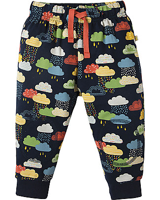 Frugi Pantaloni con Toppe Imbottite, Nuvolette - 100% cotone bio Pantaloni Lunghi