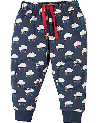 Frugi Pantaloni con Toppe Imbottite, Nuvolette di Pioggia - 100% cotone bio Pantaloni Lunghi