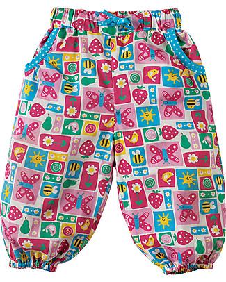 Frugi Pantaloni Pull Ups, Patchwork Fragola - 100% cotone bio Pantaloni Lunghi