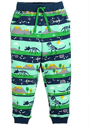 Frugi Pantaloni Tuta con Ginocchia Rinforzate, Dig Up a Dino - 100% felpa di cotone bio Pantaloni Lunghi