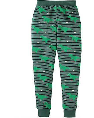 Frugi Pantaloni Tuta con Ginocchia Rinforzate, Dinosauri - 100% felpa cotone bio Pantaloni Lunghi