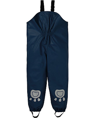 Frugi Salopette Impermeabile Puddle Buster, Space Blue - 100% materiale riciclato! Giacche