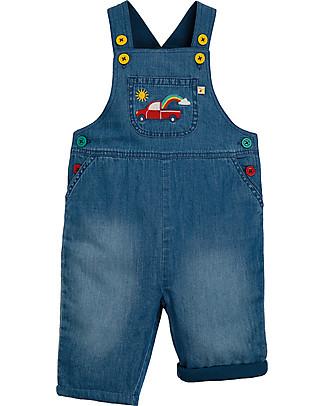 Frugi Salopette Jeans Hopscotch, Camion - Cotone Bio Salopette