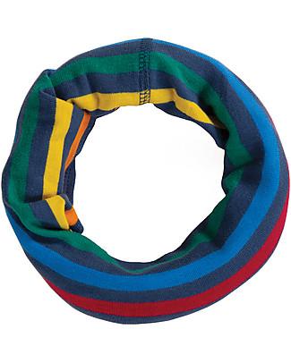 Frugi Scaldacollo Bimbo, Rainbow Stripe - 100% Cotone Bio Sciarpe e Mantelle